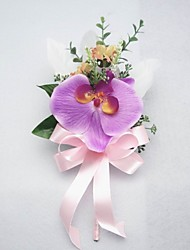 "Wedding Flowers Free-form Peonies Boutonnieres Wedding Party/ Evening Satin Cotton Fuchsia 3.94""(Approx.10cm)"