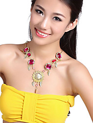Performance Leaves Design with Gems Dancewear Belly Necklace Dance For Ladies