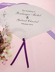 fan personalizado pérola papel mão - flor cinza (conjunto de 12)