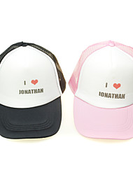 Personalized Red Heart Sports Hat (More Colors)