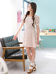 Women's Casual/Daily Cute Dress,Print Above Knee Summer