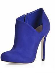 Suede Naaldhak Enkel laarzen met rits partij / avond schoenen (meer kleuren)