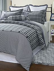 Plaid Cotton Duvet Cover Sets