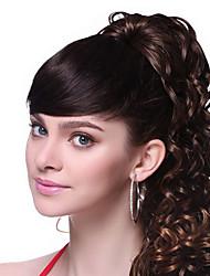 Top qualité grade Noir Bang Cheveux ondulés
