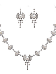 Crystal Bouquet Bridal Necklace And Earring Set