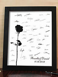 Personalized Signature Canvas Frame - Rose (Includes Frame)