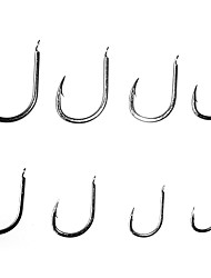 Fishing Hooks Fishing-10 pcs Black Carbon steel