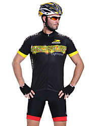MYSENLAN Bike/Cycling Jersey / Tops Men's Short Sleeve Breathable / Quick Dry / Front Zipper / Wearable Polyester BlackM / L / XL / XXL /