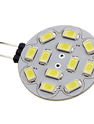 1.5w g4 led proyector 12 smd 5730 200 lm blanco natural dc 12 v
