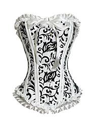 strapless poliestere corsetti chiusura sul fronte busk matrimonio shapewear sexy lingerie shaper