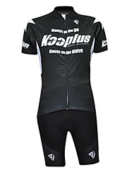 KOOPLUS Men's Cycling Suits Half Sleeve Bike Breathable / Quick Dry / Waterproof Zipper / Front Zipper / Wearable White / BlackS / M / L
