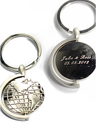 Personalized Keyring - Globes (Set of 4)
