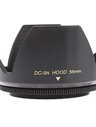 Mennon Parasol 55mm para lentes de cámaras digitales de 16mm + 28mm + película Objetivos