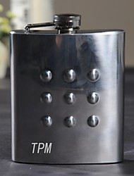 Gift Groomsman Personalized Stainless Steel 7-oz Flask