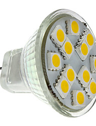 1.5W GU4(MR11) LED Spotlight MR11 12 SMD 5050 160 lm Warm White DC 12 V