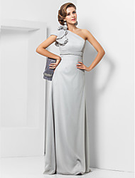 TS Couture® Formal Evening / Military Ball Dress - Elegant Plus Size / Petite Sheath / Column One Shoulder Floor-length Chiffon with Flower(s)
