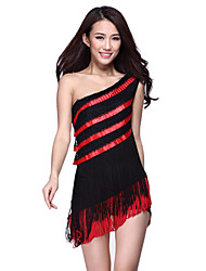Dancewear Baumwolle mit Spitze und Quasten Latin Dance Dress For Ladies