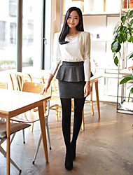 CHAOLIU High Waist Wrap Skirt With Peplum