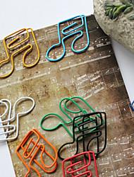 Sechzehntel Stil bunten Büroklammern (zufällige Farbe, 10-pack)