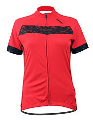 Santic Women's Cycling Jersey Short Sleeve 100% Polyester Short Sleeve Quick-drying Cycling Jersey for Women C02028