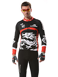 RUSOO CoolDry Men material transpirable de manga larga ciclismo Jersey RS-C001