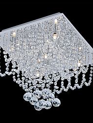 Mini Style/Crystal/Bulb Included Flush Mount , Modern/Contemporary Living Room/Bedroom/Dining Room/Kitchen/Study Room/Office