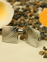 Gift Groomsman Personalized Square Silver Cufflinks With Gift Box