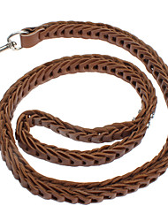 Dog Leash Brown Genuine Leather