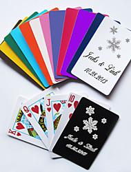 Personalizados Cartas de Baralho - floco de neve (mais cores)