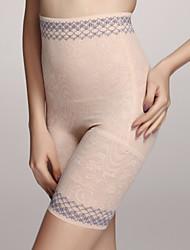 chinlon com rendas meados coxa cintura alta shapewear calça sexy lingerie shaper
