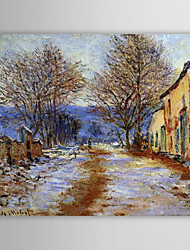Famous Oil Painting A Snow Effect at Limetz by Claude Monet