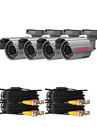 Kits de câmera de CCTV com quatro 420TVL câmera CCD Sony