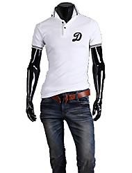 Männer Revers Basic Short Sleeve Stickerei Polo Shirt