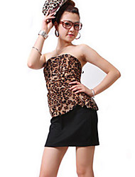 Women's Club Sexy Dress,Leopard Cotton / Polyester