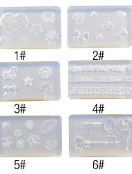 3D Nail Art Sculpture Mold for Silicon Decorations No.1(Assorted Color)