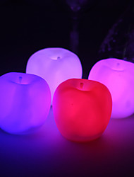 Wedding Décor Vinyl Apple Lutos LED Lamp - Set of 4 (Color Changing, Built-in Botton Cell)