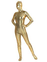Zentai Suits Ninja Zentai Cosplay Costumes Golden Solid Leotard/Onesie / Zentai Lycra Unisex Halloween / Christmas