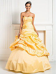 Prom/Formal Evening/Quinceanera/Sweet 16 Dress - Daffodil Plus Sizes Princess/Ball Gown/A-line Sweetheart/Strapless Floor-length Taffeta