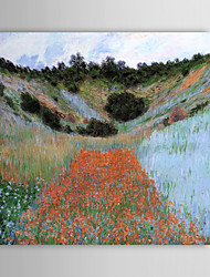 Famous Oil Painting A Poppy Field in a Hollow near Giverny by Claude Monet