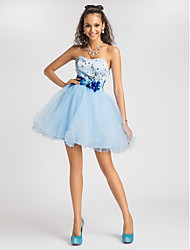 TS Couture® Cocktail Party / Prom / Sweet 16 Dress - Sky Blue Plus Sizes / Petite Princess / Ball Gown / A-line Sweetheart / Strapless