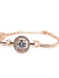 Women's Fashion Bracelet 18K Gold Plated Cubic Zirconia