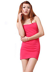 ZHI YUAN Strapless Candy Color Mantel Slim Dress (mehr Farben)