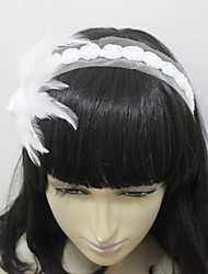 Women's Satin/Feather/Tulle/Alloy Headpiece - Wedding/Special Occasion/Casual/Outdoor Headbands