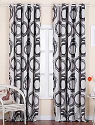 (Um painel) jacquard contemporânea cortina de poupança de energia rodada