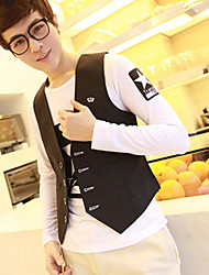 Men's Long Sleeve Vest Casual Pure
