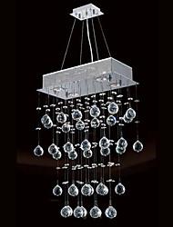 Luz de teto 200W moderno com 4 luzes e Cristal Pingentes frisados (GU10 Base)