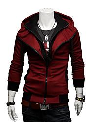 Männer Kontrastfarbe Hoodie dünne Jacke