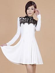 Plissados Rendas Zhi Yuan Balance vestido (mais cores)