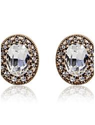 Великолепная круглые серьги сплава Diamond Crystal