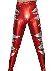 Rojo y plata pantalones metálicos brillantes